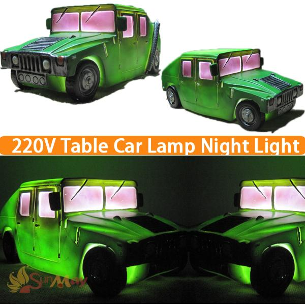 Kids LED Night Lights Children Room Lamp Baby Bedroom Lamparas Novelty Products Green Classic Cars Light AC 220V Luminaria novelty night light baymax big hero 3w luminaria white green red color lava lamp for children bedroom decorate luminaria de mesa