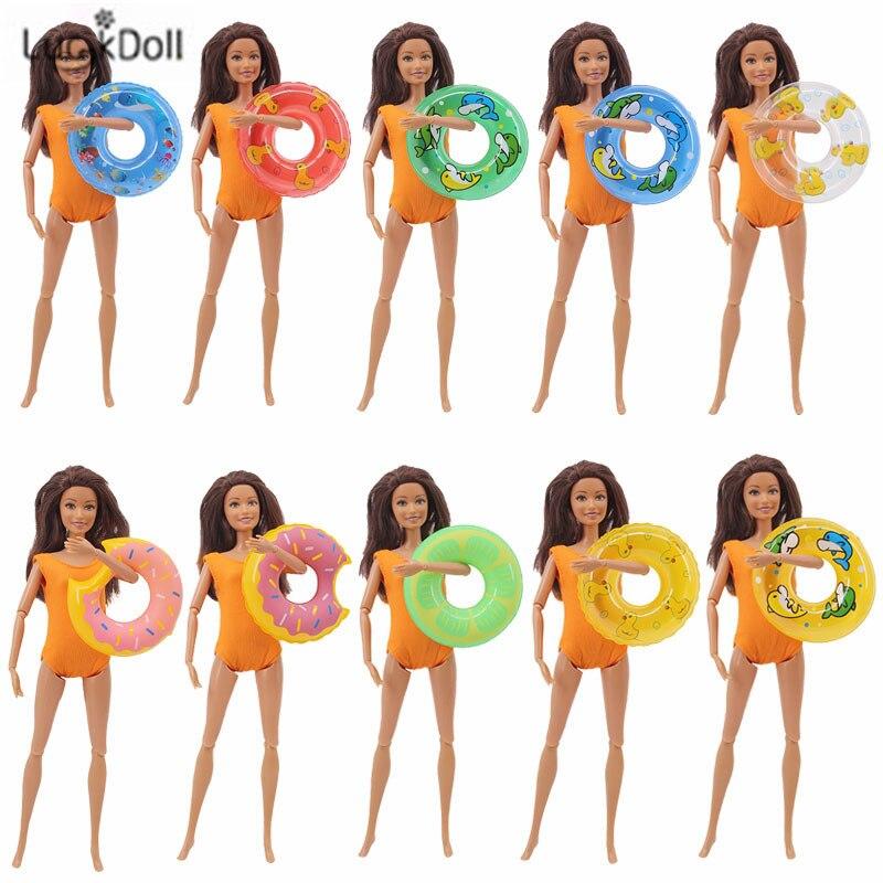 LUCKDOLL12  Swimwear Beach Swimwear Bikini Swimming Lifebuoy Barbiees Accessories,Girls Toys,Generation,Birthday Gift