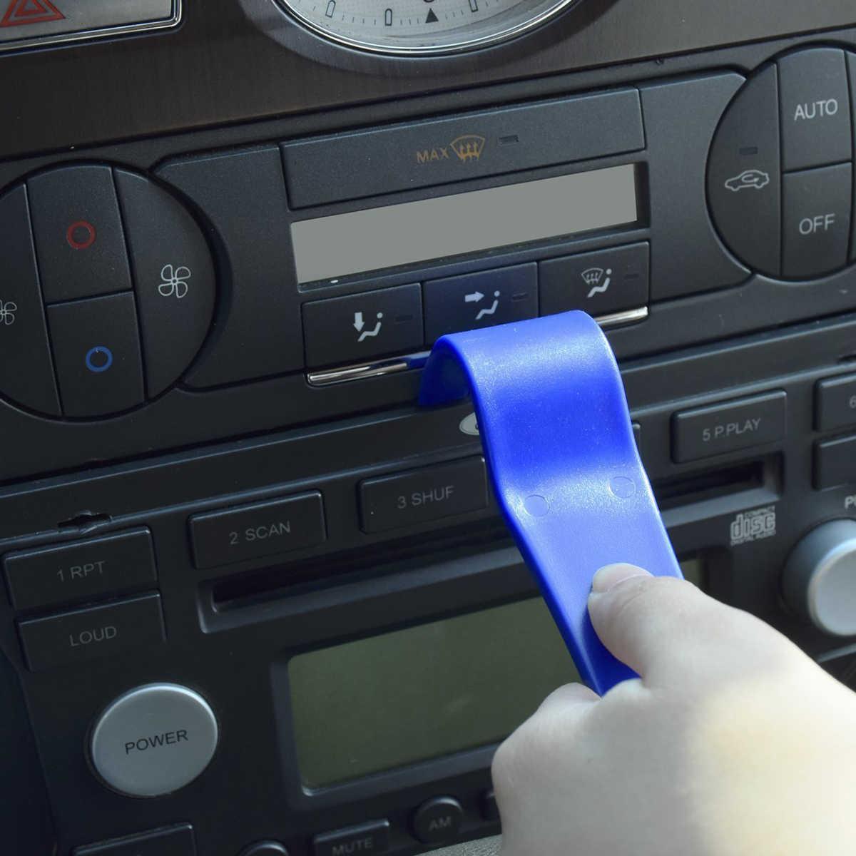 5 шт. Портативный автоматическое удаление Trim Tool Kit двери Панель CD Динамик удаления набор инструментов удаления литья Динамик Инструменты для ремонта (синий)