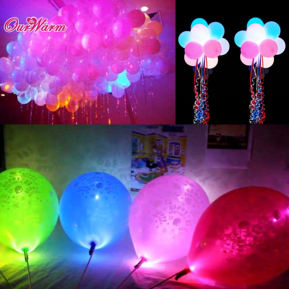 Pcs lot colorful led lamps balloon lights for paper