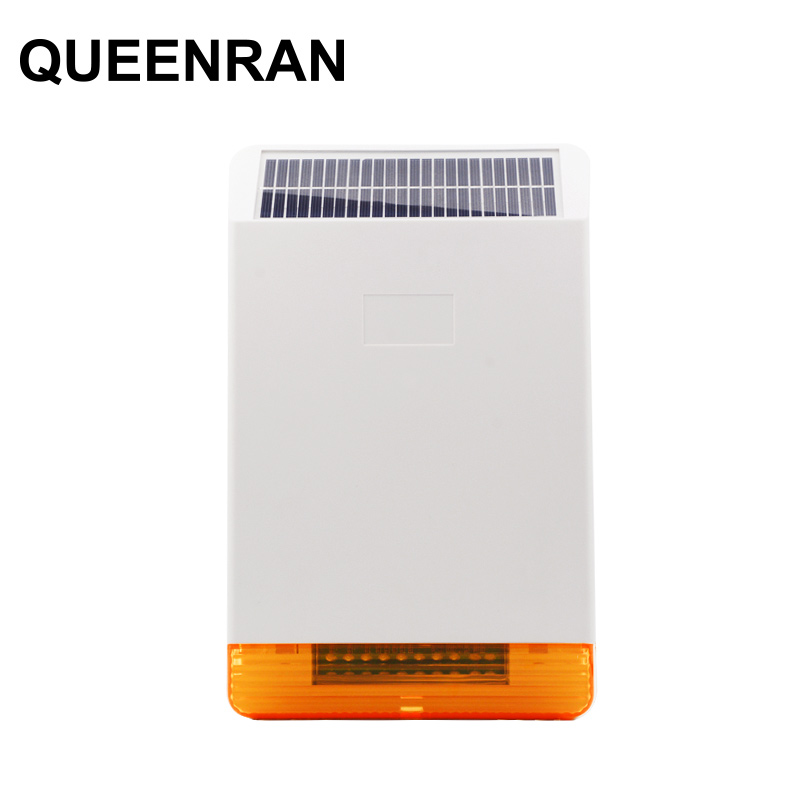 MD-326R Solar Powered Outdoor Wireless Sound and Flash Siren w rechargeable Battery for GSM PSTN Home Alarm SystemMD-326R Solar Powered Outdoor Wireless Sound and Flash Siren w rechargeable Battery for GSM PSTN Home Alarm System