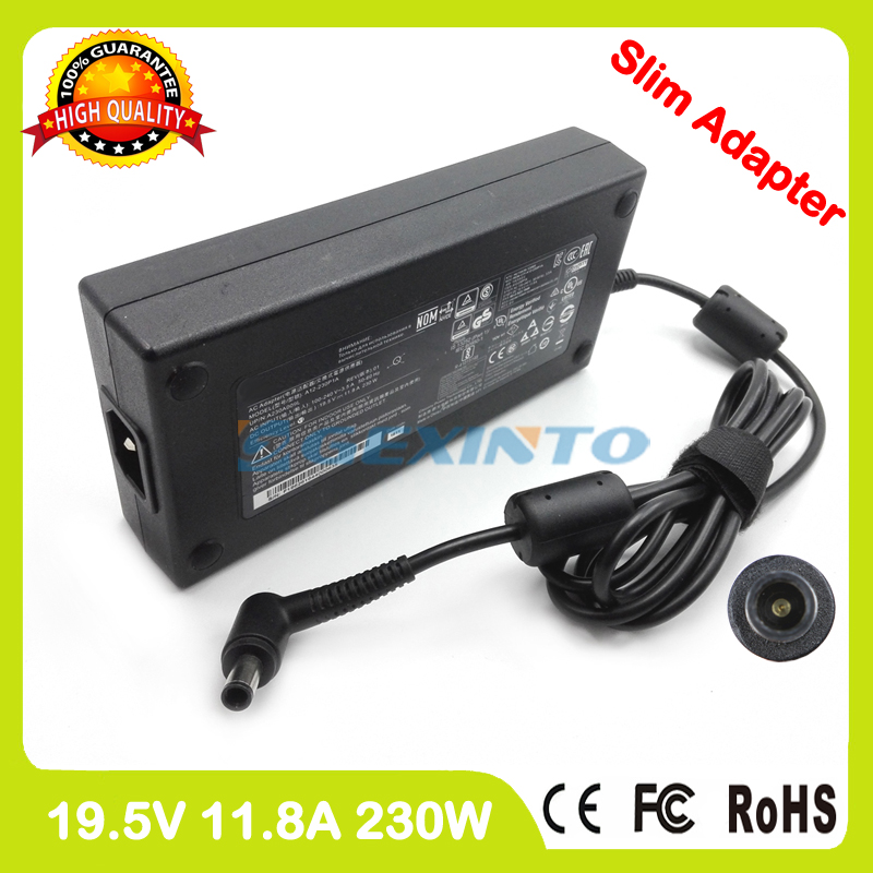 Slim ac power adapter 19.5V 11.8A 230W laptop charger for Asus W90 W90V W90VN W90VP hd4870 hd 4870 216 0732023 b375p ddr3 mxmiii vga video card for asus w90vp w90 notebook