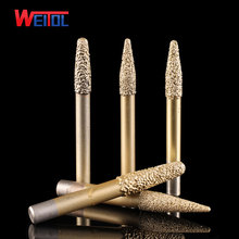 Weitol Бесплатная доставка 6/8/10 мм хвостовиком доставка пайки камень Биты для гравировки мраморная Резьба Инструменты ЧПУ Бит для гранита