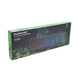 Image 5 - Usb Tastiera Gaming Cablata Tastiera 104 Tasti Russo Inglese Layout di Arcobaleno Bagliore Tastiera per Computer Notebook Desktop Del Computer Portatile