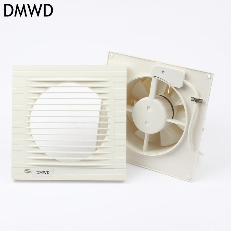DMWD Küche Ventilator 6 Zoll Ultradünne Erweiterte ABS Abdeckung  Hohe Qualität Kupfer Küche Bad Ventilator
