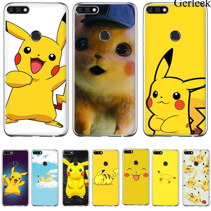 Desxz Cell Phone Case Pikachu Phone Case For Huawei P9 P8 P10 P20 P30 MINI Lite Pro Plus P Smart Cover Bag