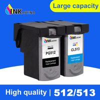 INKARENA PG512 CL513 XL Ink cartridge PG 512 CL 513 PG 512 for Canon MP240 MP250 MP270 MP230 MP480 MX350 IP2700 MX320 Printer