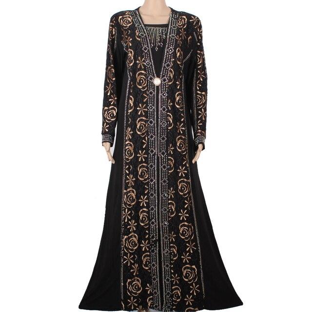 Новые Женщины Мусульманин Абая Исламской Одежды Для Женщин Высокого Качества Кружева Бисером Дизайн Абая Дубай Kafatn Халат Молиться Платье M1403