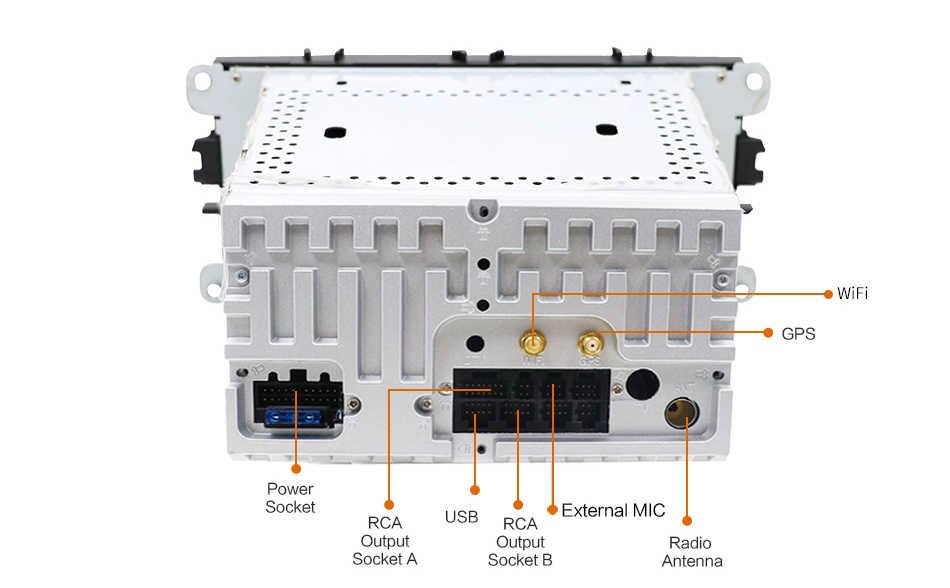 Bosion רכב מולטימדיה נגן אנדרואיד 9.0 GPS 2Din רכב נגן DVD עבור פורד/פוקוס/S-MAX/מונדיאו/ c-MAX/גלקסי רכב רדיו עם Wifi BT