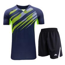 Костюм для бадминтона, мужской костюм для бадминтона с короткими рукавами+ шорты, теннисные рубашки, быстросохнущая одежда для настольного тенниса