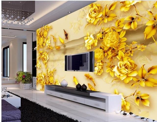 Home Decoration Rose gold color eagle carp classic painting ...