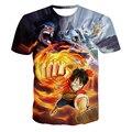 Классический аниме одна часть герои 3D майка луффи футболки мужчины женщины свободного покроя футболки Harajuku футболки битник хип-хоп вершины