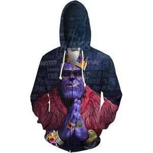 Image 2 - YOUTHUP 2020 Anime Design männer 3d Hoodies Mode Voll Bedruckt Mit Kapuze Pullover Männlich Kühlen Thanos 3D Hoodies Sweatshirt