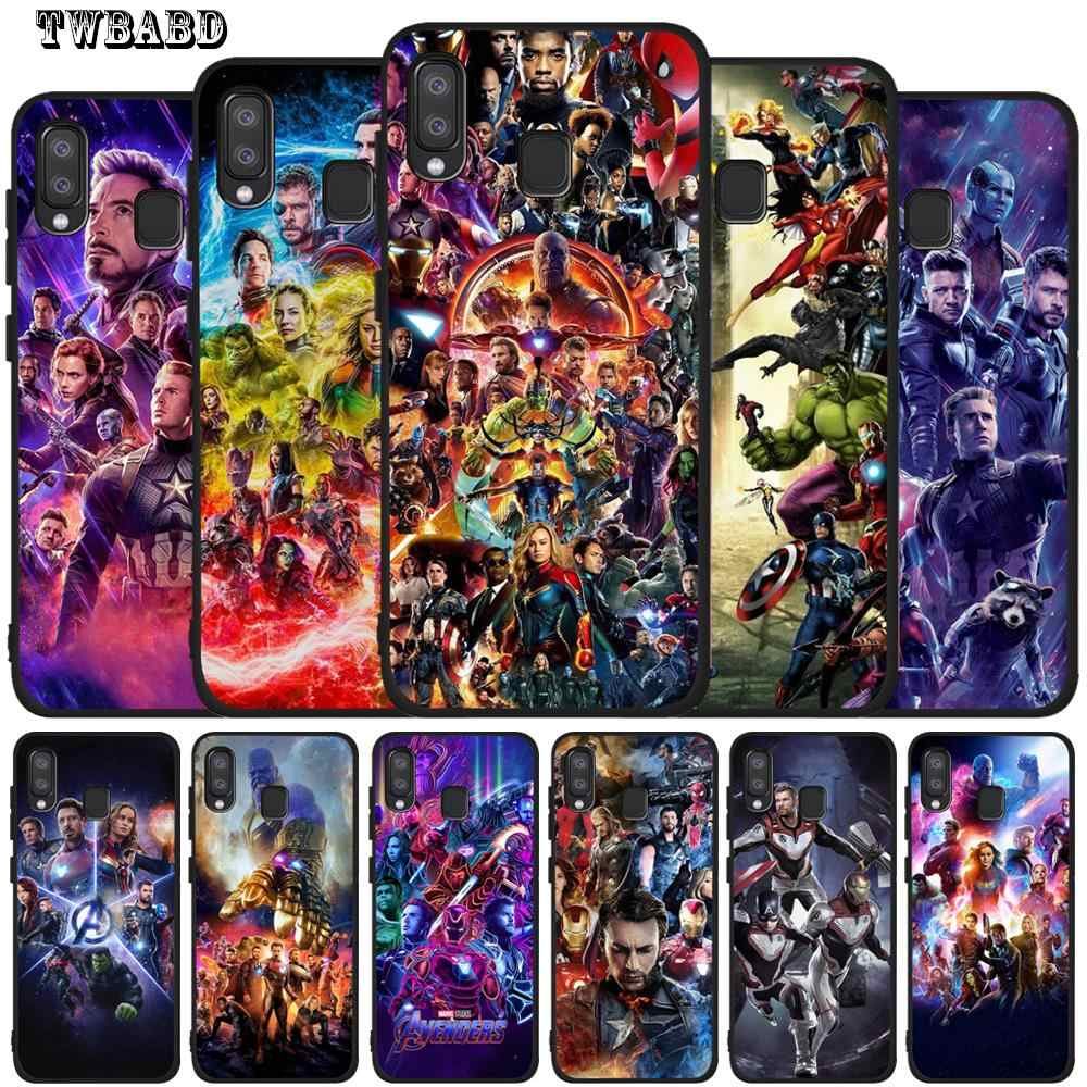 Luxury Marvel Avengers Thanos Iron Man Case For Samsung Galaxy A50 for Cover Smsung A20 A30 A40 A10 A70 M10 M20 Etui Back Cover