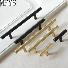 3.75 5 6.3 Brass Cabinet Handles Door Pulls Knobs Matte Black Dresser Drawer T Bar Hardware