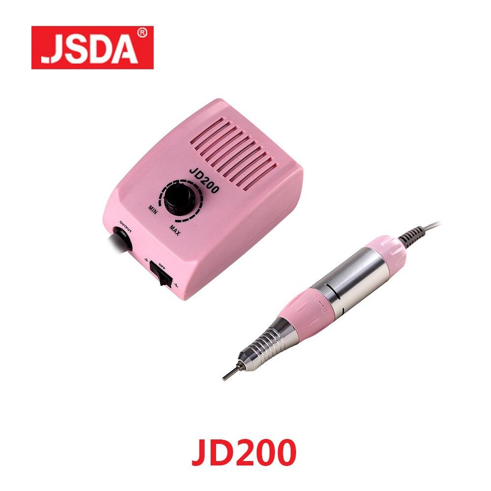 Liquidación JSDA JD200 35 W 30000 RPM uñas taladros máquina eléctrica manicura pedicura archivo pequeño y fuerte Nails Art equipo