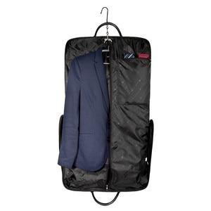 Image 2 - BAGSMART Waterproof Black Nylon Garment Bag With Handle Lightweight Suit Bag Business Men Travel Bags For Suits