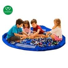 LKQBBSZ Diameter 85cm Portable Children Storage Bag Play Mat Storage Bags Toys Organizer Blanket Rug Boxes
