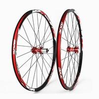 Newset 26 Mtb Mountain bike bicycle wheel set 24holes front 2/rear 2 bearings Aluminum Alloy Wheelsets