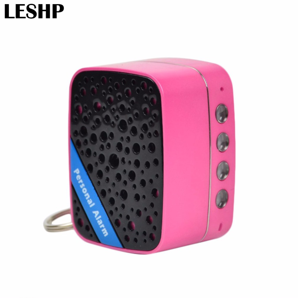 130dB Super Loud SOS Alarm Mini Portable Speaker Rechargeable Self Defense Anti-Attack Alarm For Women Kids Elderly mini gsm gps tracker for kids elderly personal sos button track with two way communication free platform app alarm