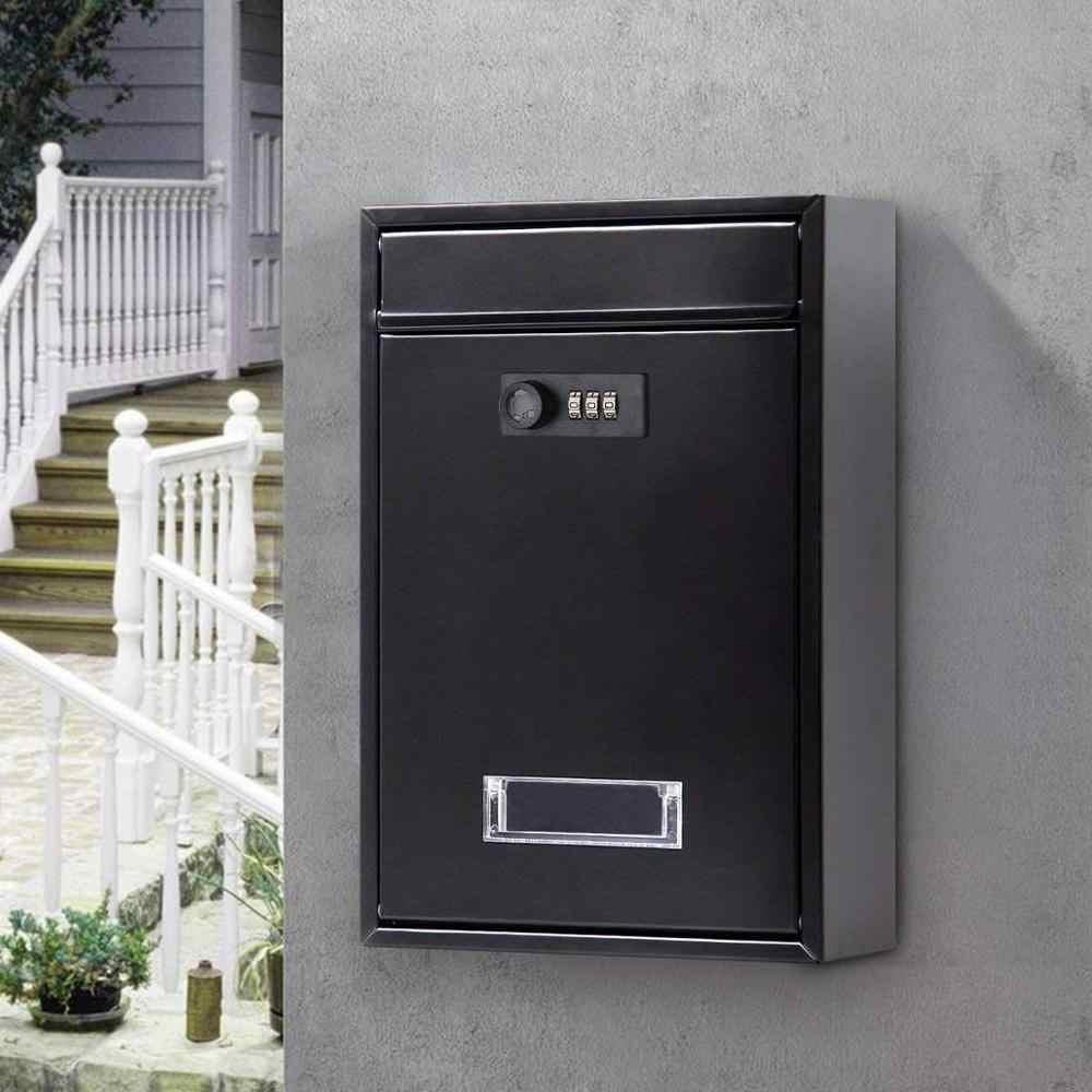 12 дюймов психического кодовый замок Винтаж падение почтовый ящик на стене настенный почтовый ящик на замке почтовый ящик с ключами ящик для газет