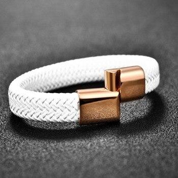Мужские плетённые кожаные браслеты