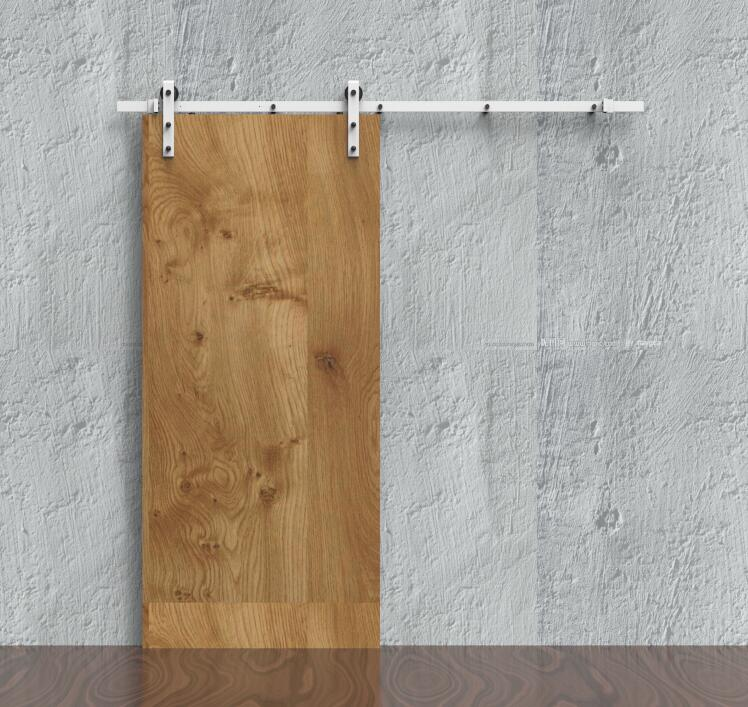 Diyhd 6ft8ft Rustic White Coated Sliding Barn Door Hardware Closet