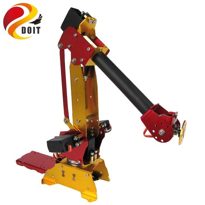 DOIT 6DOF Powered Desktop Parallel-mechanism Metal Robot Arm PalletPack Industrial Robot Arm adsorption mechanism in membranes