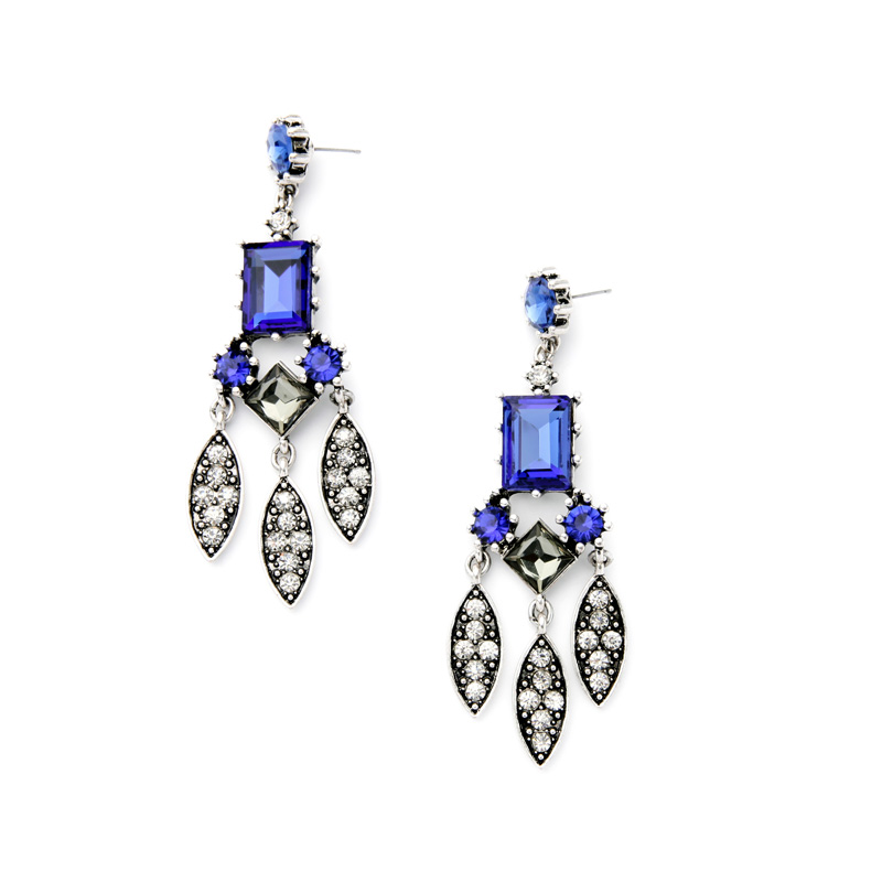 Charming Chandeliers That Make A Statement: Long Style Gorgeous Party Earring Purple Chandelier