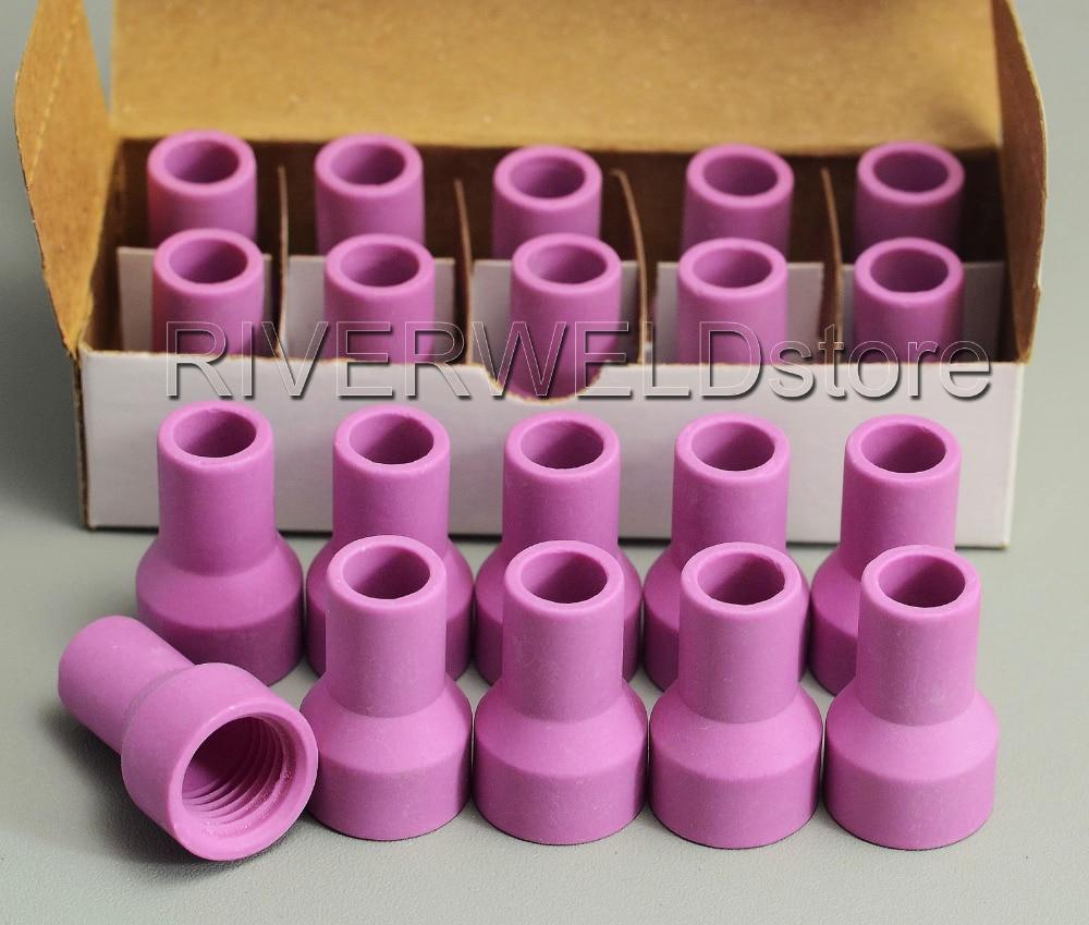 QQ150A QS-150A TIG Welding Torch Consumables Alumina Ceramic Nozzle Gas Lens Cup A-2, 20PK