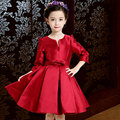 Girls Dress Sweet Red Long Sleeve Princess Dress High Quality Cotton Party Dresses Cute Kids Clothes For Girl Children Clothing