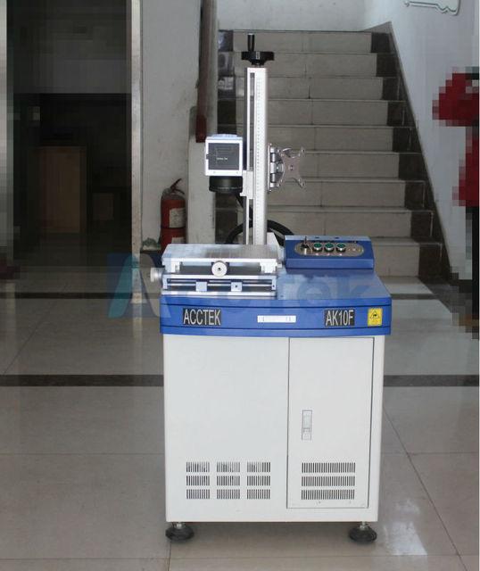 Good quality 10w fiber laser marking machine for marking on steel,pvc,animal tags,plastics etc