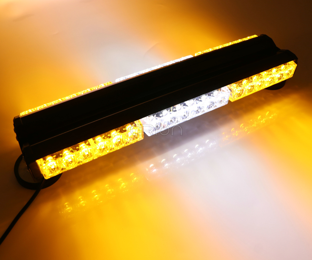 "18/"" 108W 36LED Work Light Bar Traffic Advisor Roof Top Warning Strobe Lamp Amber"