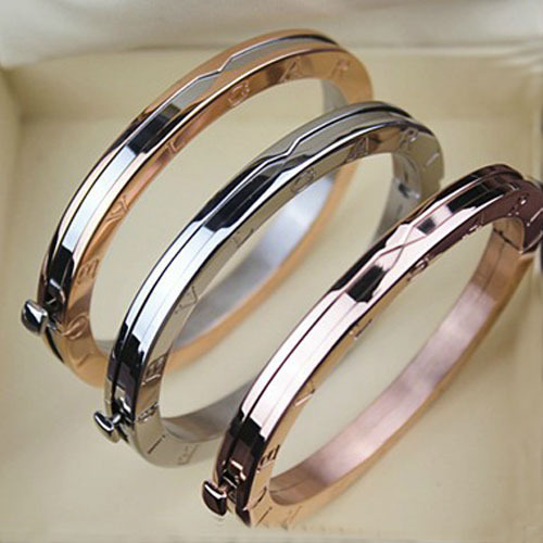 Fashion Luxury Italian Brand Bracelet Bangle Titanium Platinum