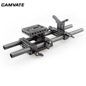 Image 3 - Camvateデジタル一眼レフカメラサポートキットベースプレートマウント & レンズsuppor & 三脚取付プレートケージ用/三脚/スタビライザー
