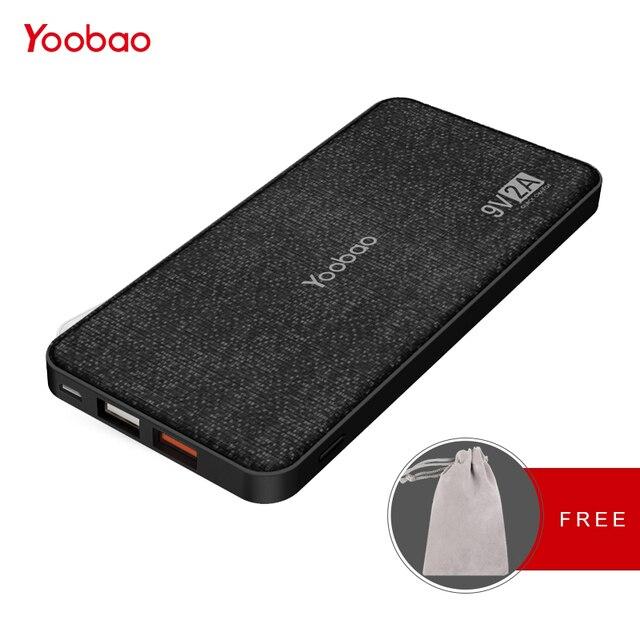 Yoobao Quick Charge Мощность банка для Xiaomi Mi 12000 мАч QC 2,0 Pover банк 9 V 2 A Портативный Зарядное устройство Внешний Батарея для huawei P8
