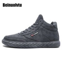 Autumn Winter Running Shoes Male Trainers High Sneakers For Men Sport Shoes Leather Boots Popular Athletic