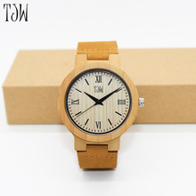 Good day watch brands Carbonized bamboo garden shell watches Quartz lovers watch Crazy horse leather leather watch package mail