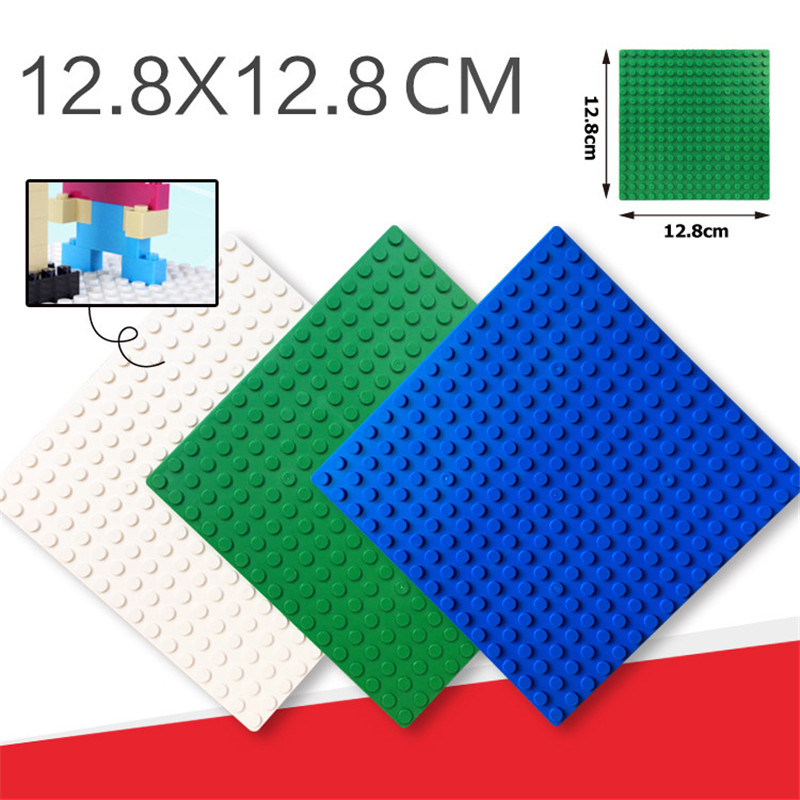 16*16 Dots Legoings Base Plate for Small Bricks Multicolor Baseplate Board DIY Building Blocks Plate Building Toys For Children legoingly city road base plate straight crossroad curve t junction street baseplate building blocks bricks toys for children