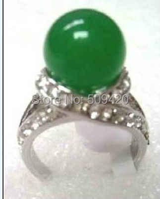 XFS20141er>ที่สวยงามจีนสีเขียวหยกแหวน7 8 9 #