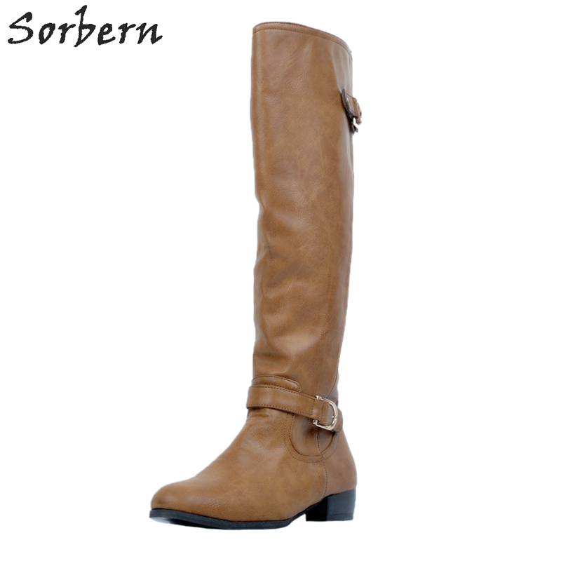 Plus Size Flat With Women Boots Plus Size Botas Mujer Buckle Strap Zipper Fashion Zapatos Mujer Boots Women Chaussures FemmePlus Size Flat With Women Boots Plus Size Botas Mujer Buckle Strap Zipper Fashion Zapatos Mujer Boots Women Chaussures Femme