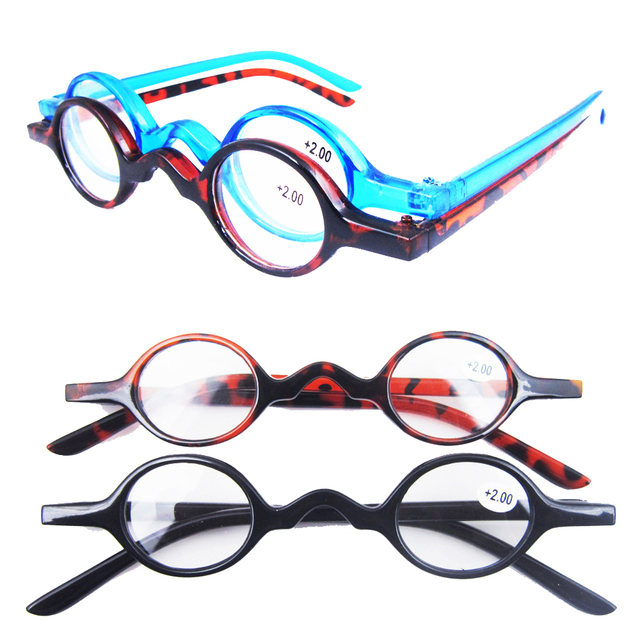 02c43a84bc0 US $7.19 20% OFF|Agstum Small Round Eyeglasses Vintage Retro Reading  Glasses Reader +1 +1.5 +1.75 +2 +3 +4-in Men's Reading Glasses from Apparel  ...
