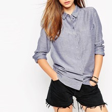 Autumn New Fashion Design Vintage Loose Shirt font b Polo b font Collar Single breasted Chest