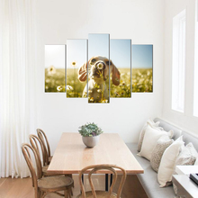 Home Decoration Canvas Painting HD Prints 5 Pieces Wall Art Dog Modern Pictures Artwork Poster Abooly Free Shipping