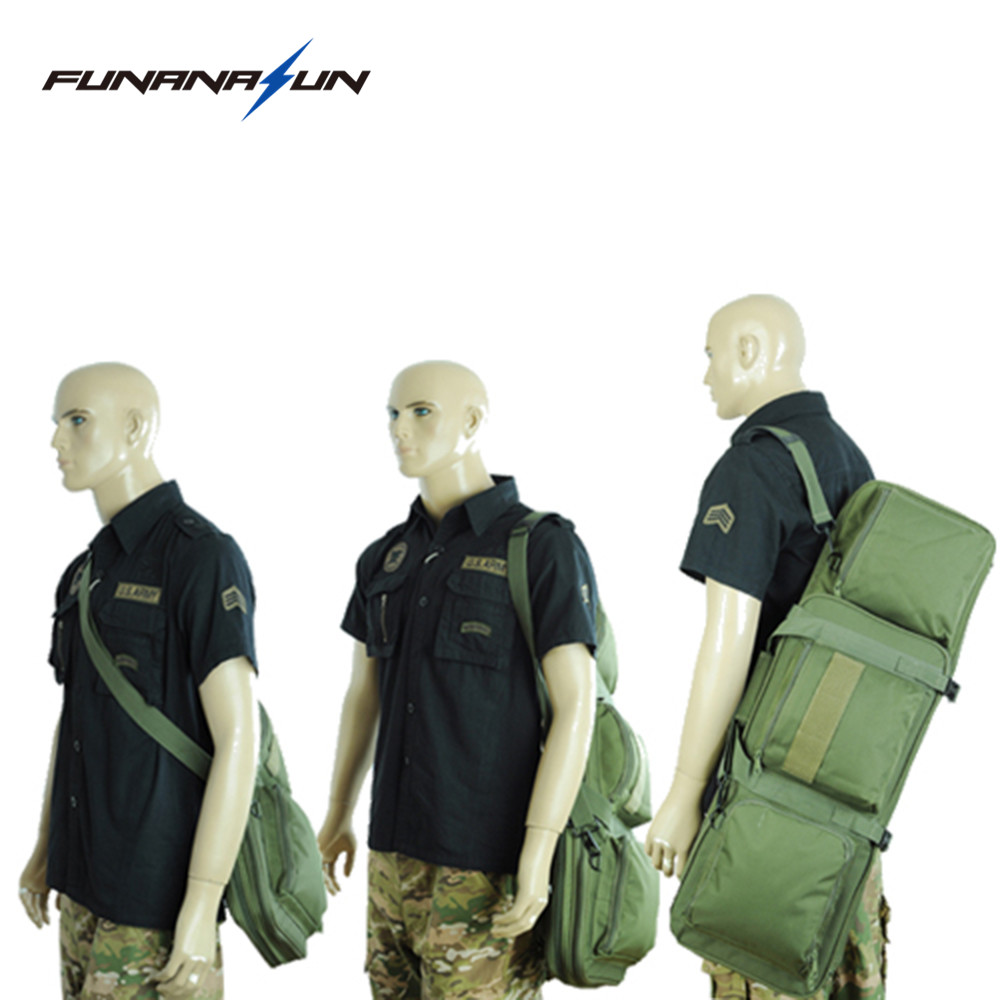 33Tactical Duel Rifle Bag  Hunting Pistol Gun Case Shoulder Strap Backpack with Molle Pouches Cs Game Military Shotgun Bag 85CM gun protector case backpack tactical handgun pistol carry bag wargame sports military hunting camping bag pouch backpack