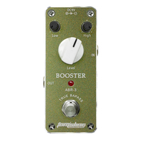AROMA Tom Sline ABR 3 Mini Booster Electric Guitar Effect Pedal With Aluminum Alloy Housing True