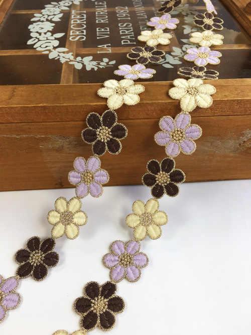 Sacs de bricolage brodés à petites fleurs | Colorés, motifs Guipure, coupe dentelle Soluble dans l'eau, chapeaux vêtements, Applique, fournitures de couture P015