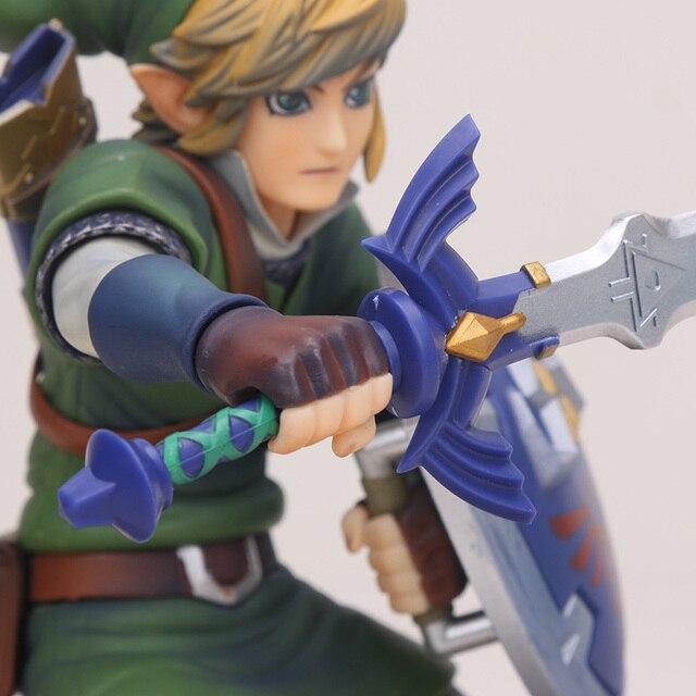 big size Link Zelda Legend of Zelda Breath of the wild Sky Ward Game Toy Zelda Sword Link Figma pvc action Figure toys 2