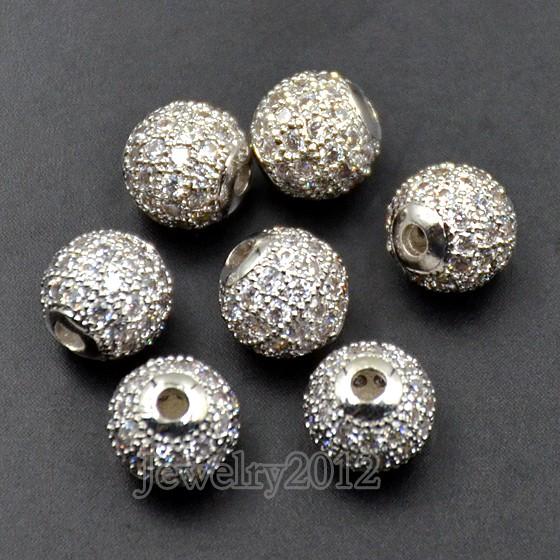 08 Clear Zircon on Silver