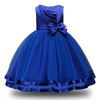 c1644341a77 Enfants princesse robe pour filles dentelle Bowknot Tutu bébé fleur fille  robes pour Costumes de fête de mariage vêtements de noël 2-10 ans